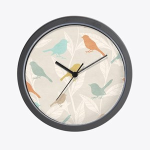 Pretty Birds Wall Clock