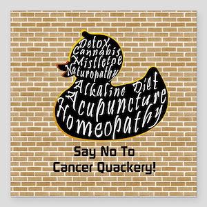 "Beware the Cancer Quacke Square Car Magnet 3"" x 3"""