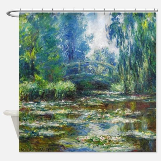 Pond & Japanese Bridge Monet Shower Curtain