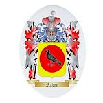 Raven Oval Ornament