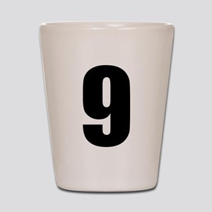 number nine - no. 9 white Shot Glass