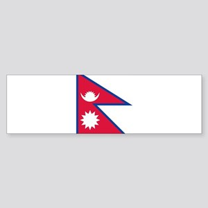 Flag of Nepal - ??????? ????? Bumper Sticker