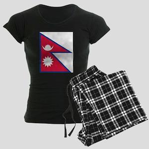 Flag of Nepal - ??????? ???? Women's Dark Pajamas