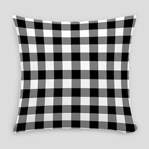 Black White Gingham Everyday Pillow