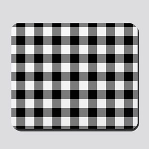 Black White Gingham Mousepad