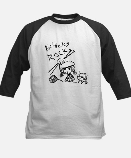 Knitters Rock  Kids Baseball Jersey