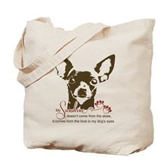 Chihuahua Dog My Sunshine Tote Bag