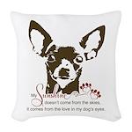 Chihuahua Dog My Sunshine Woven Throw Pillow