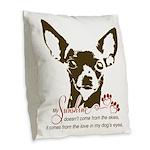 Chihuahua Dog My Sunshine Burlap Throw Pillow