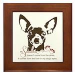 Chihuahua Dog My Sunshine Framed Tile