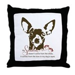Chihuahua Dog My Sunshine Throw Pillow