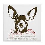 Chihuahua Dog My Sunshine Tile Coaster
