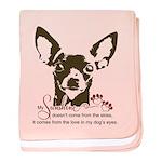 Chihuahua Dog My Sunshine baby blanket