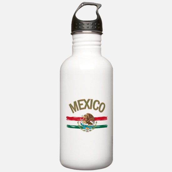 Mexican Mexico Flag Water Bottle