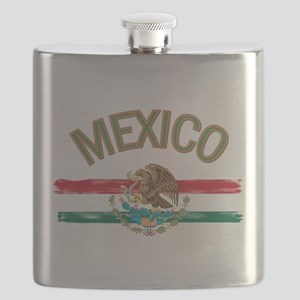 Mexican Mexico Flag Flask