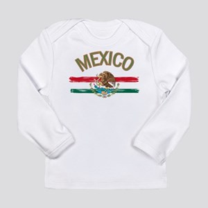 Mexican Mexico Flag Long Sleeve Infant T-Shirt