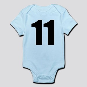Number 11 Baby Light Bodysuit