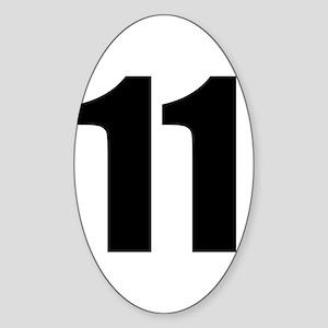 Number 11 Sticker (Oval)
