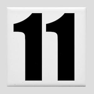 Number 11 Tile Coaster