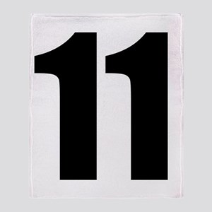 Number 11 Throw Blanket