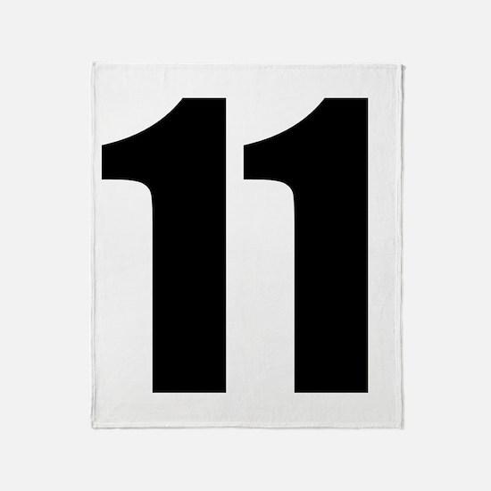 Number 11 Throw Blanket