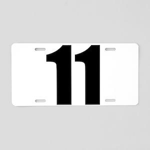 Number 11 Aluminum License Plate