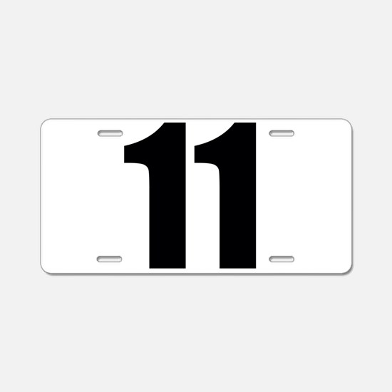 Number 11 Aluminum License Plate