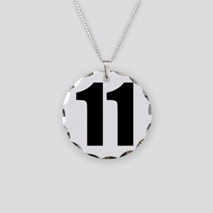 Number 11 Necklace Circle Charm