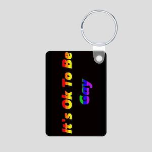 Its Ok To Be Gay Aluminum Photo Keychain Keychains