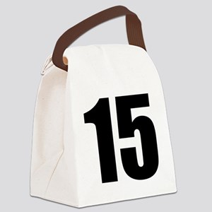 Number 15 Canvas Lunch Bag