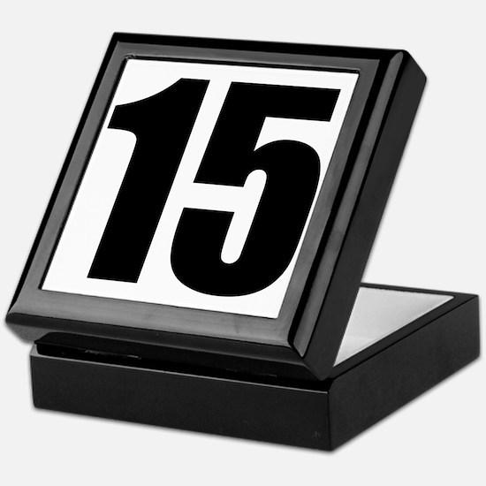 Number 15 Keepsake Box