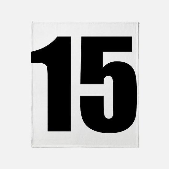 Number 15 Throw Blanket
