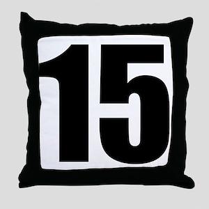 Number 15 Throw Pillow
