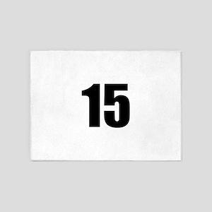 Number 15 5'x7'Area Rug