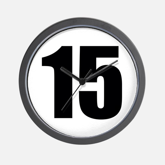 Number 15 Wall Clock