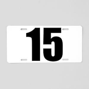 Number 15 Aluminum License Plate
