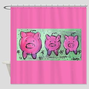 mama pig Shower Curtain