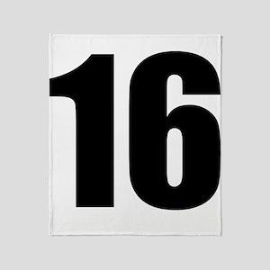 Number 16 Throw Blanket