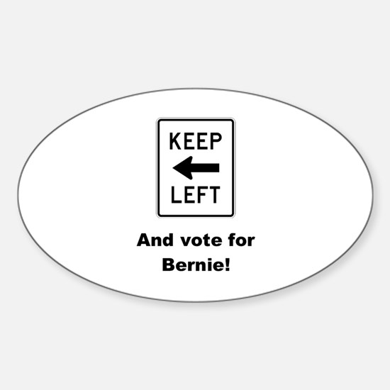 Keep left & vote for Bernie! Decal