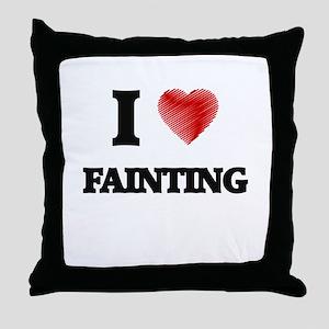 I love Fainting Throw Pillow