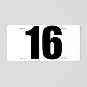 Number 16 Aluminum License Plate