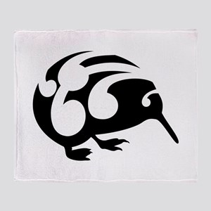 Koru Kiwi New Zealand Design Throw Blanket