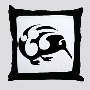 Koru Kiwi New Zealand Design Throw Pillow