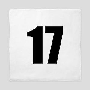 Number 17 Queen Duvet
