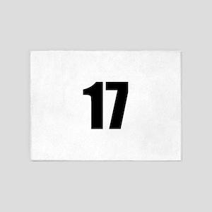 Number 17 5'x7'Area Rug