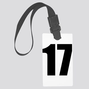 Number 17 Large Luggage Tag