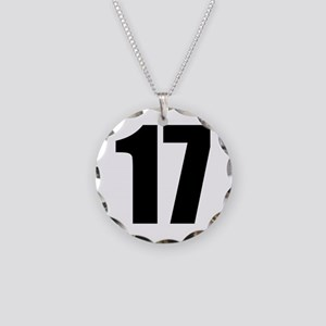 Number 17 Necklace Circle Charm
