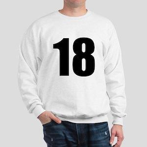 Number 18 Sweatshirt