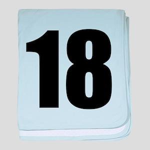 Number 18 baby blanket