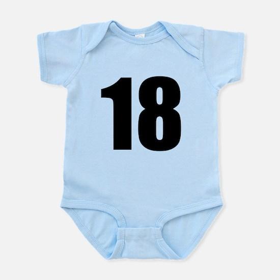 Number 18 Baby Light Bodysuit
